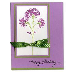 Green and Purple Happy Birthday Card