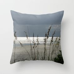 Lit Up Sea Oats Throw Pillow by Rosie Brown - $20.00  #pillow #throwpillow #photography #sunset #homedecor #beach #seascape #seaoats #tropical #nature #florida