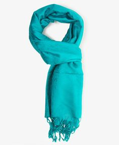 F21 Woven paisley scarf, teal $10.80