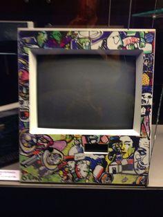 Old TV with artwork of Herman Brood