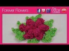 ▶ How To Crochet Forever Flowers - YouTube