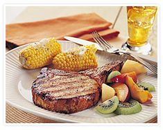 Mike Ditka's Official Tailgater's Pork Chops: This recipe was developed by Chef Tom Kenny of Mike Ditka's Restaurant in Chicago. A favorite pork chop recipe for tailgating of the legendary coach. ditka offici, food, offici tailgat, grill pork, mike ditka, pork chop recipes, tailgat pork, pork recip, pork chops