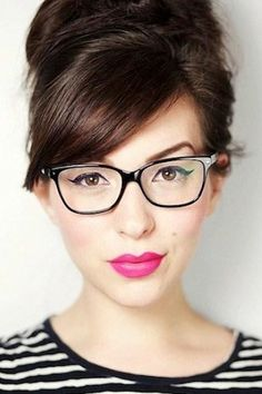 hair colors, frame, glasses, cat eyes, makeup tips
