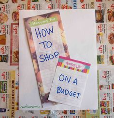 How to Grocery Shop on a Budget