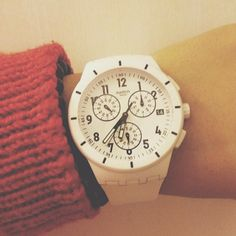 TWICE AGAIN WHITE #Swatch http://swat.ch/1jgg0X4