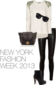 """""""New York Fashion Week 2013"""" by lineapelle on Polyvore - love this outfit!"""