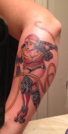 Wonder Woman meets roller derby