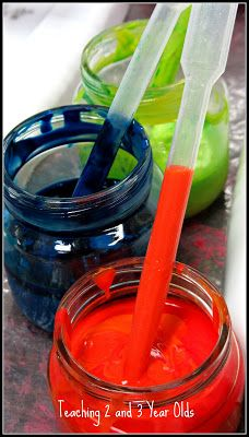 Using Pipettes and Turkey Basters in Preschool (Teaching 2 and 3 Year Olds)