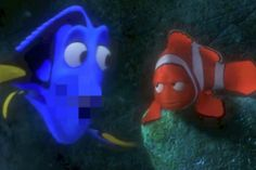 The Unnecessary Censorship-version of Finding Nemo has me CRACKING UP.