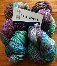 Arco Iris Malbrigo- gorgeous yarn!   I NEED to knit something with this!