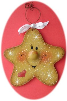 Star Christmas Ornament (Hand Painted Wood)