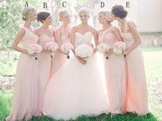 Cheap pink Bridesmaid dress long bridesmaid dress by TinnaDress