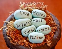 DIY cute easter eggs (some brown speckles would complete these)
