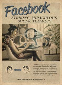 Anuncios vintage de las redes sociales