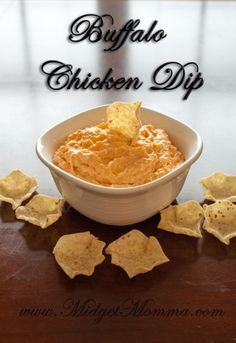 Crockpot Buffalo Chicken Dip: 8 Ounces of cream cheese 1/2 Cup of ranch or blue cheese dressing 1/2 Cup of buffalo style hot sauce 1/2 Cup Monterey Jack cheese 11 Ounces of shredded chicken