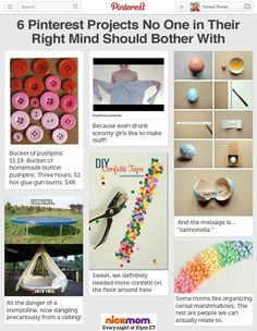 6 Pinterest Projects No One in Their Right Mind Should Bother With | More LOLs & Funny Stuff for Moms | Nicole Leigh Shaw for NickMom