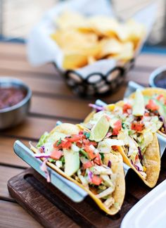 Awesome fish tacos recipe - excellent combo of spices and lime flavor!