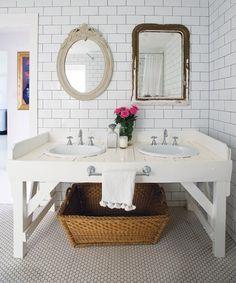 Rustic White Bathroom