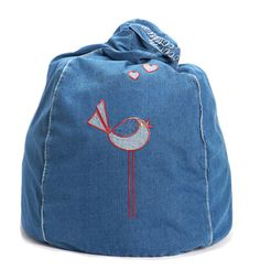 Early Bird Denim Bean Bag  from cocooncouture.com