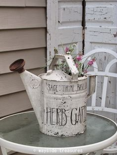 Painted Watering Can