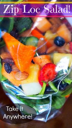 Ziplock salad- perfect for lunch!