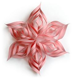 create 3D snowflakes for decoration