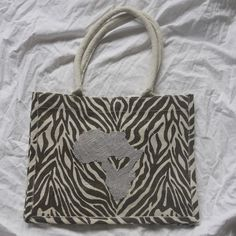 Zebra print Jute purse by PreciousGoons on Etsy, $25.00