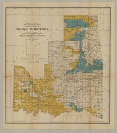 Indian Territory, Progress of Sub-division June 30, 1903          Cherokee, Choctaw, Creek, Chickasaw, Seminole, Kiowa, Comanche, Quapaw, Peoria, Modoc, Ottawa, Shawnee, Wyandotte, Seneca