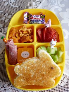 nibble tray #easter #bunny bento lunch