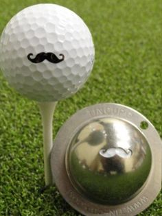 The Stache - Tin Cup Ball Marker