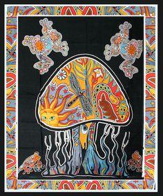 Psychedelic Mushroom - Tapestry