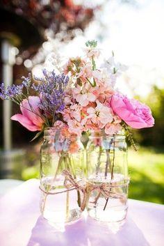 Flower arrangements...love the peonies.