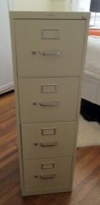 how to spray paint a file cabinet