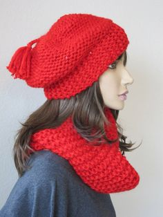 Red Hat Scarf Set