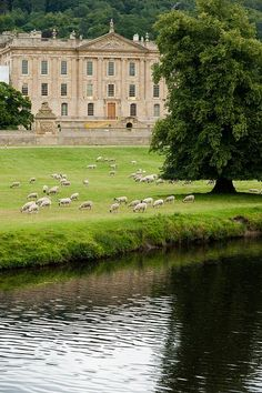 Chatsworth House in Derbyshire, England