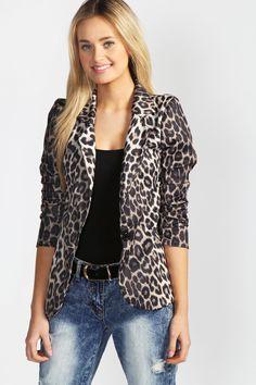 Leopard Print Blazer + Denim