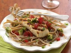 Grilled Halibut with Tomato-Avocado Salsa