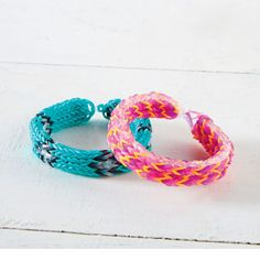 MonsterTail™ Girl Colors Triple Fishtail Rainbow Loom Bracelet get instructions & supplies on link
