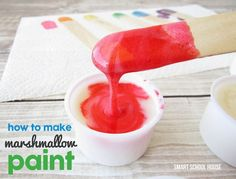 Marshmallow Paint. Made with real marshmallows! Completely edible.-Super sticky paint that is taste safe