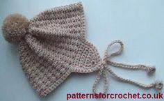Boys helmet free baby crochet pattern from http://www.patternsforcrochet.co.uk/baby-helmet-usa.html #patternsforcrochet #freebabycrochetpatterns