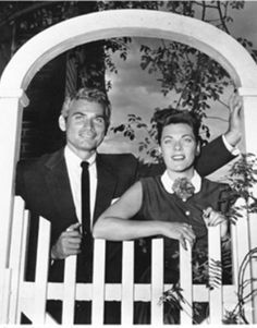 Jeff Chandler and wife