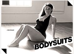 The lovely French plus size model, Clémentine Desseaux. The new body for American Apparel's bodysuits (up to size L)