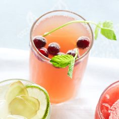 This Cranberry-pineapple Cooler is perfect for a day by the pool! More mocktail recipes: http://www.bhg.com/recipes/drinks/wine-cocktails/mocktails/?socsrc=bhgpin071313canberyypineapple=13