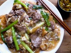 Fried Beef Hor Fun With Gravy 滑蛋牛肉河