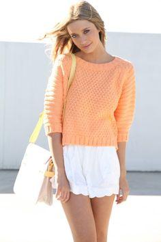 Pastel Orange Knit