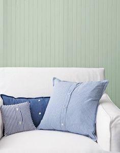 DIY Button Up pillows - via Country Living