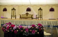 A sledge or mistletoe will look awesome if used as a decorative device for the stage