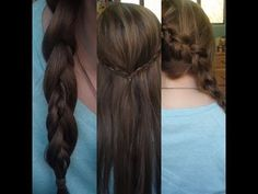 3 Quick and Easy Braided Hairstyles!