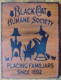 BLACK CAT HUMANE SOCIETY SIGN