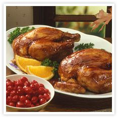 Cranberry Glazed Cornish Game Hens
